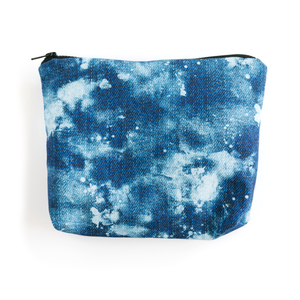 Bleached Denim Essentials Pouch