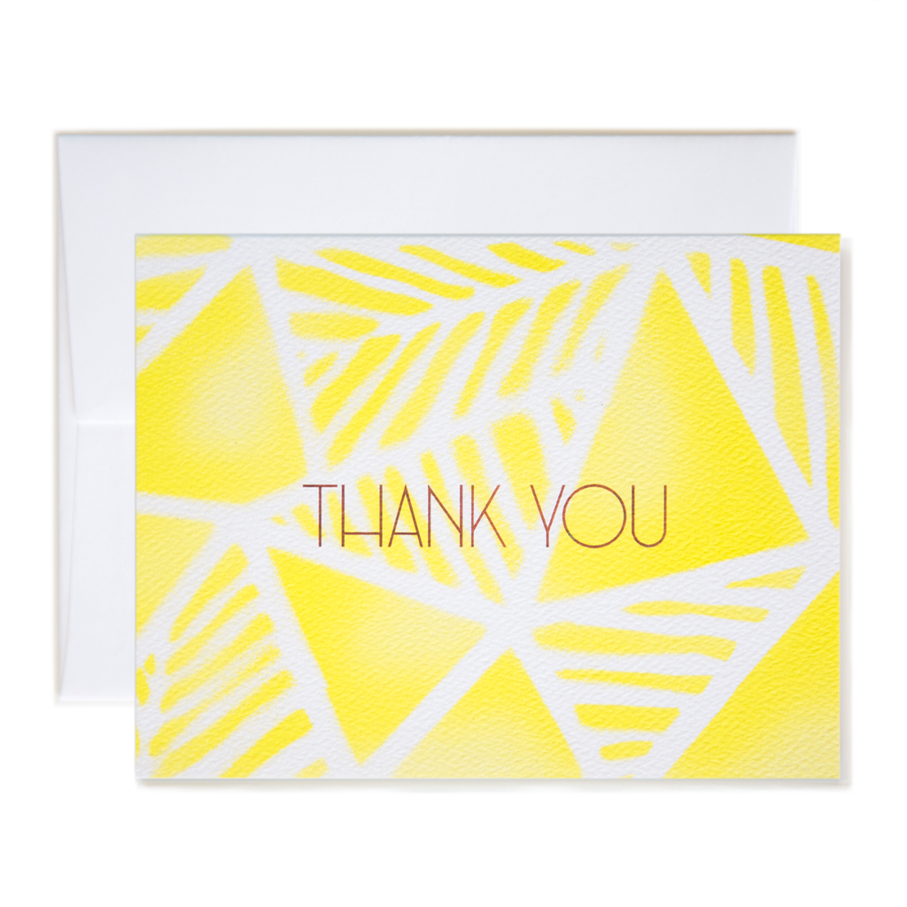 Geo Palms Airbrush Thank You Card
