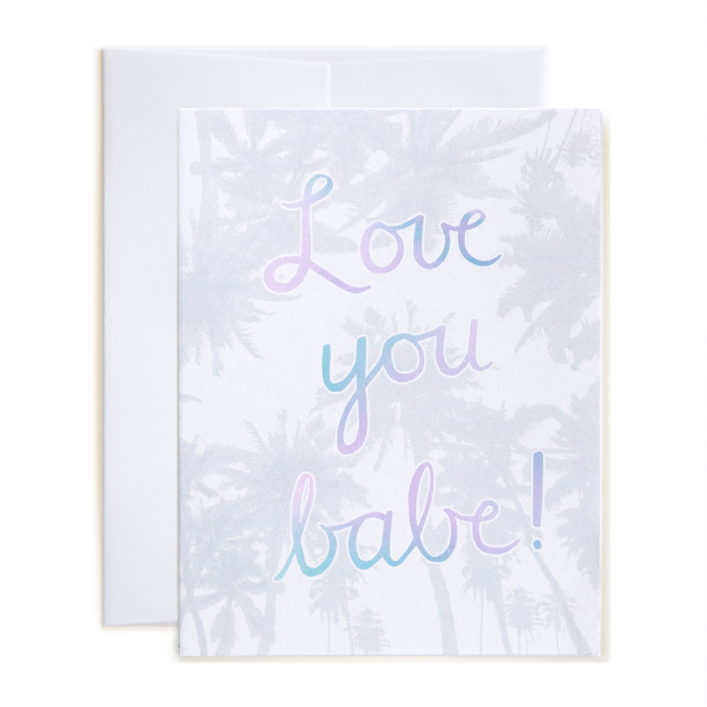 Metallic Palms Love You! Card
