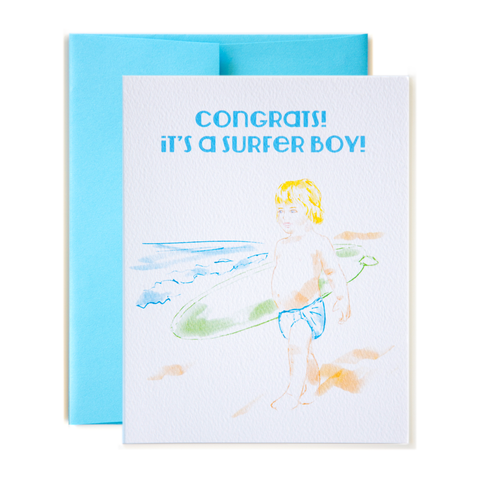 Congrats! It's a Surfer Boy! Card