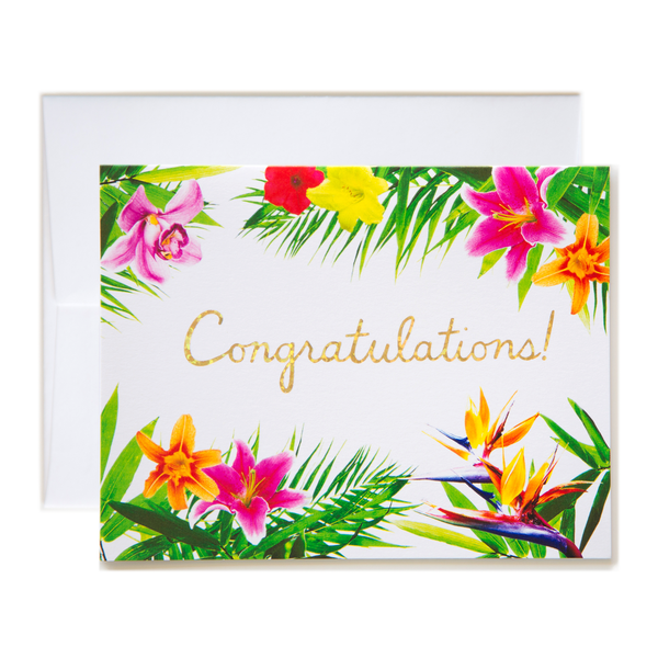 Tropical Floral Congratulations! Card