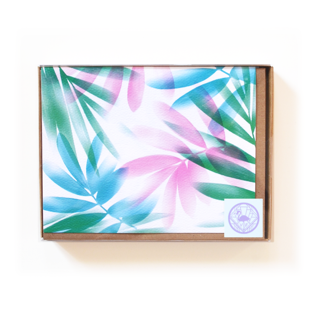 Airbrush Leaves Notecard Boxed Set