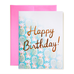 Pineapples Happy Birthday! Card