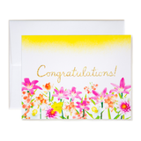 Airbrush Floral Congratulations! Card
