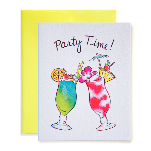 Party Time! Tropical Cocktails Card