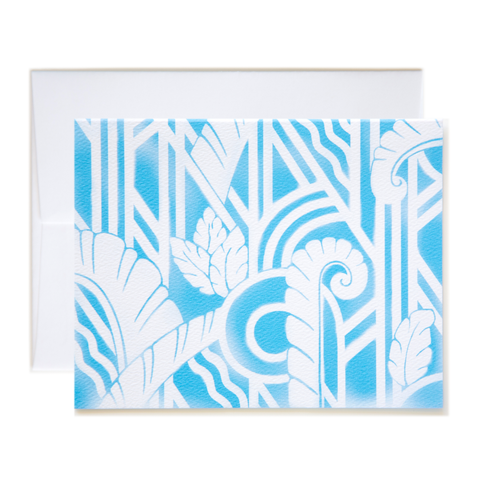 Airbrush Art Deco Notecard