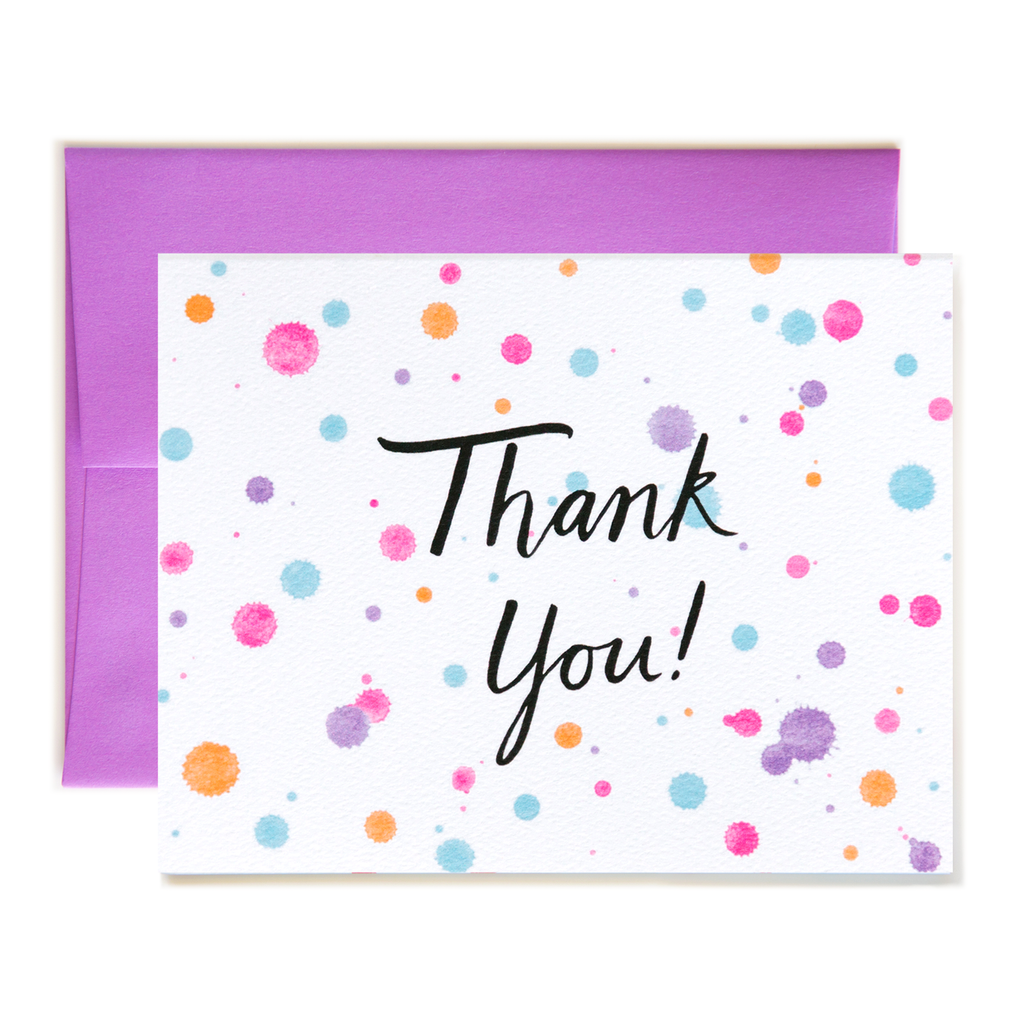 Splash Dots Thank You Card