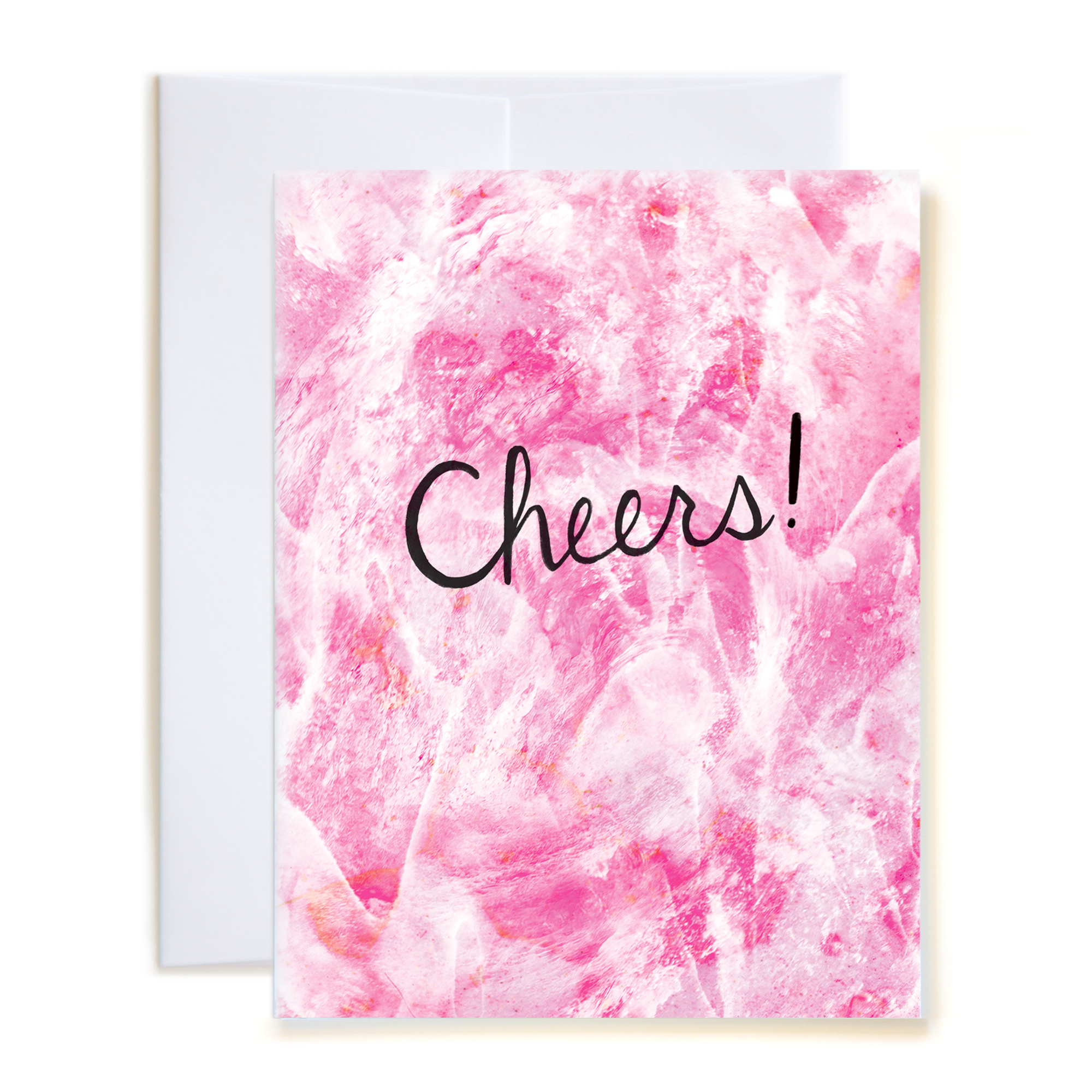 Wave Cheers Pink Card