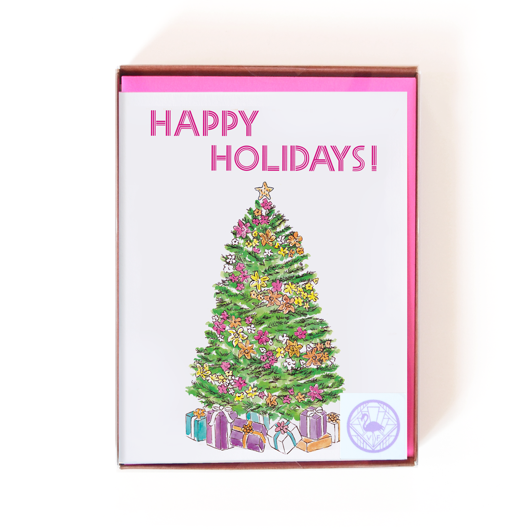 Happy Holidays Tropical Tree Card Boxed Set