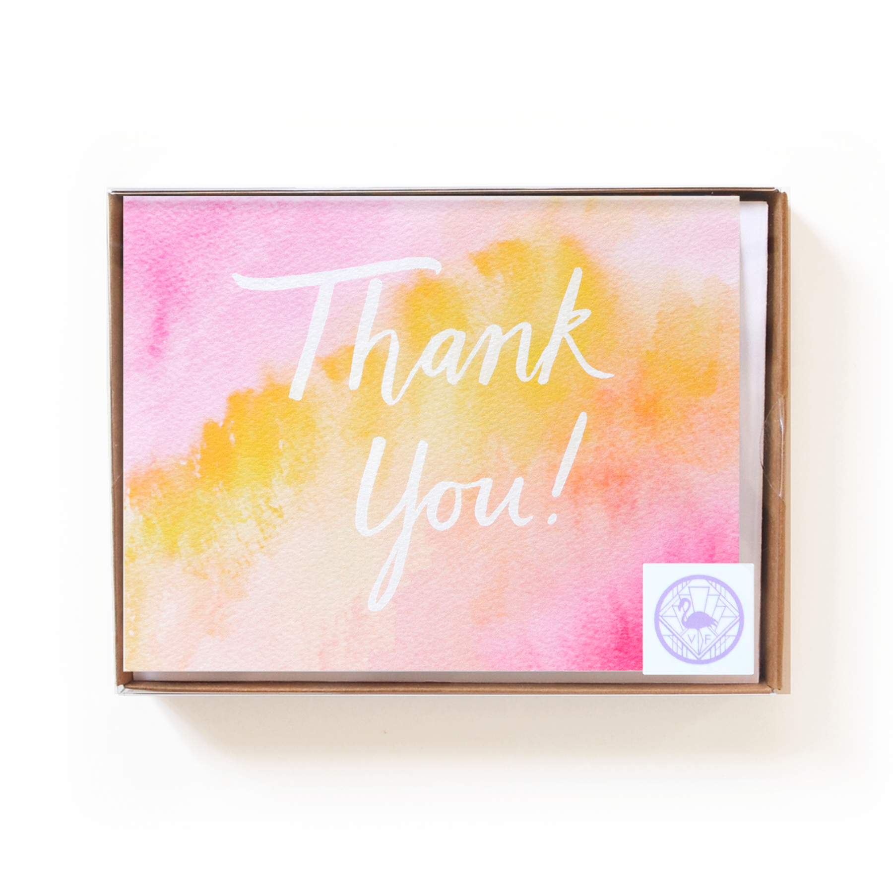 Watercolor Thank You Boxed Set
