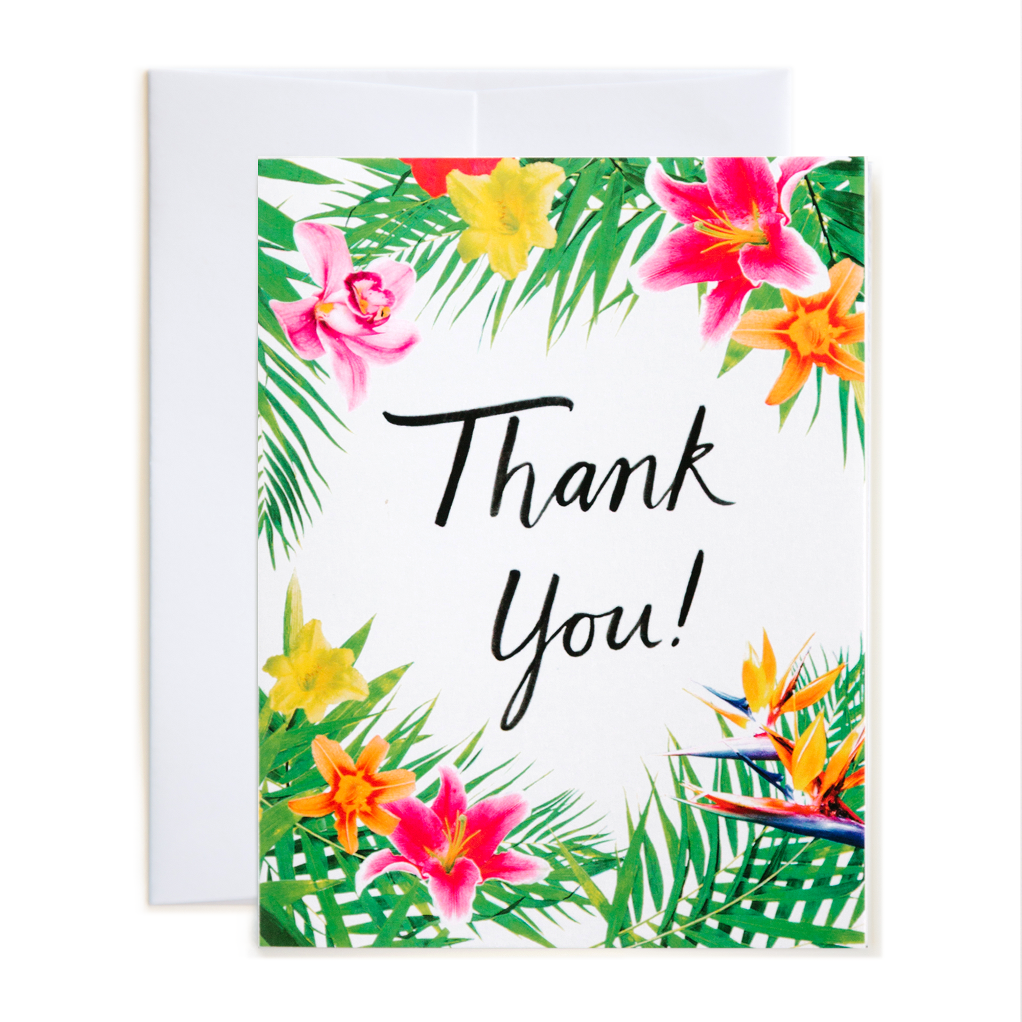 Tropical Floral Thank You Card