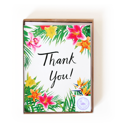 Tropical Floral Thank You Boxed Set