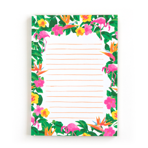 Flamingos notepad