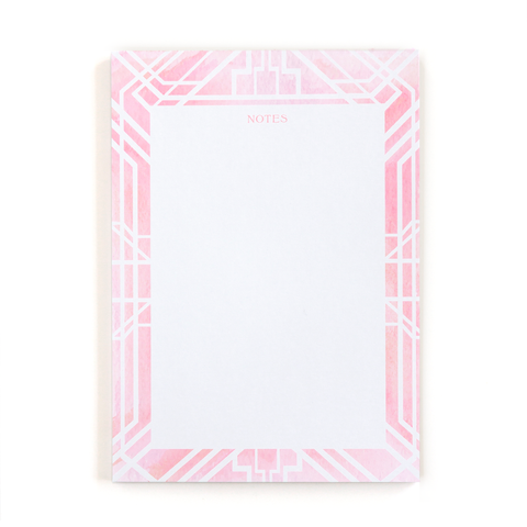 Art Deco notepad