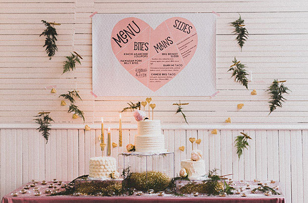 creative menu for wedding