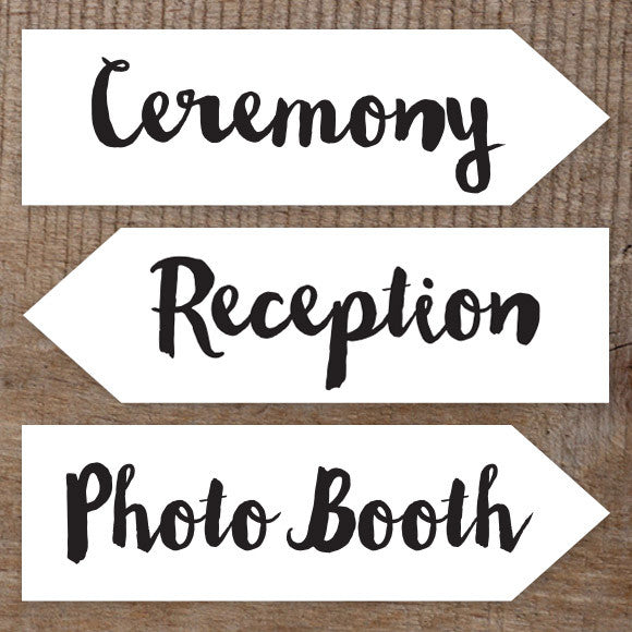 ceremony reception photo booth sign