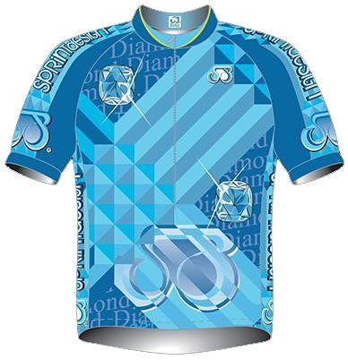 Diamond Short Sleeve Cycling Jersey | Summit Different | Fun Cycle Jerseys