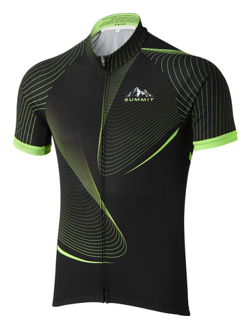 Cycling Jersey with Spiral wave pattern