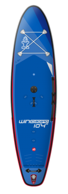 "2021 STARBOARD 10'4"" X 32"" X 6"" WINGBOARD 4IN1 DELUXE SC INFLATABLE SUP BOARD"