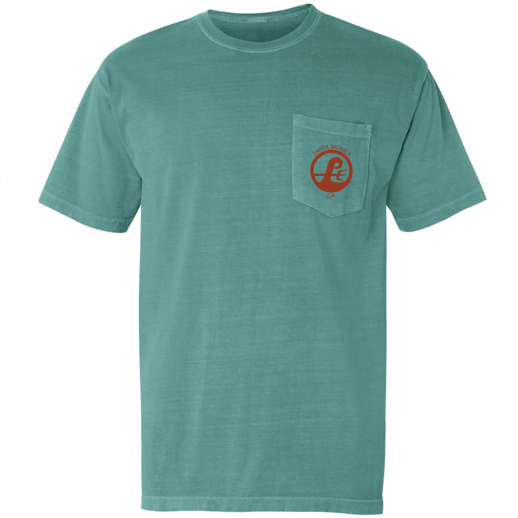 Poseidon Surf Shop Pocket Tee