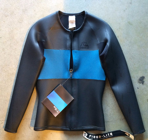 Quicksilver Retro Front Zip Wetsuit Jacket