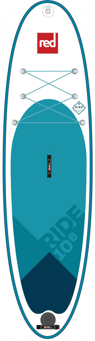 "Red Paddle Co. 10'8"" RIDE MSL inflatable SUP"