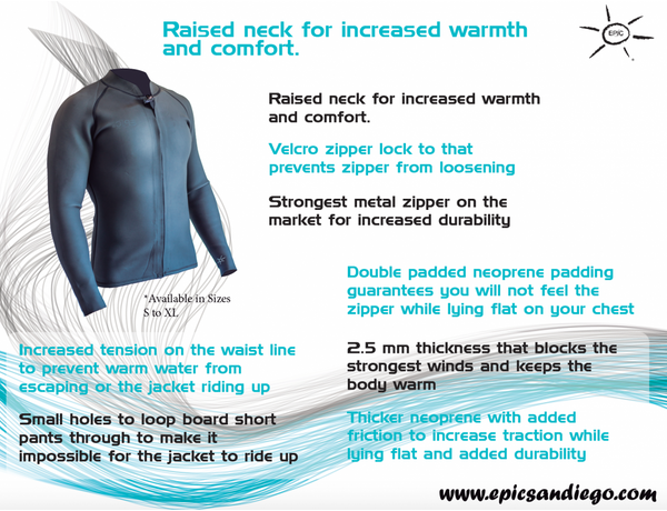 7a17110a73 Epic Rockaway Front-Zip Wetsuit Jacket – Poseidon Collective - Surf ...