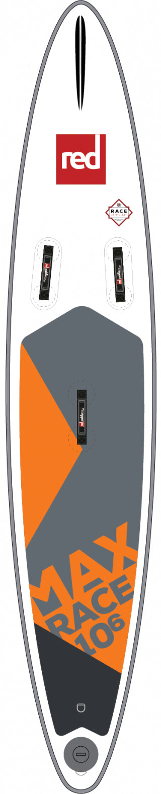 "Red Paddle Co. 10'6"" MAX RACE MSL inflatable SUP"