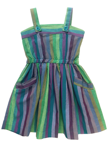 Fruit Stripe Sun Dress - Peas and Queues Kids  - 1