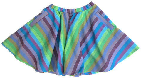Fruit Stripe Skirt - Peas and Queues Kids  - 1
