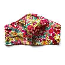 Load image into Gallery viewer, Reversible spring floral Liberty print mask with elastic