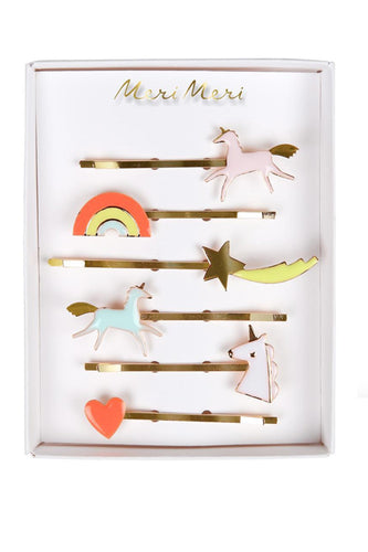 Unicorn enamel hair pins