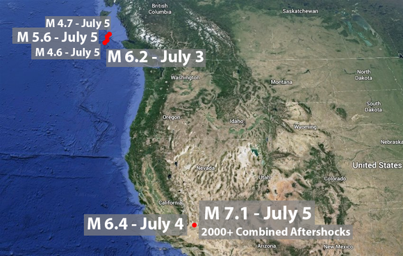 Recent Seismic Activity a Wake-Up Call for the Entire West Coast