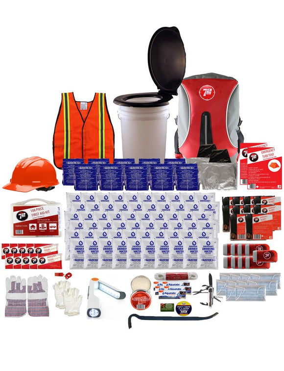 72hrs 10 Person Group Earthquake Kit - EarthquakeKit.ca