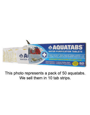 10 x Aquatabs Water Purification Tablets - EarthquakeKit.ca