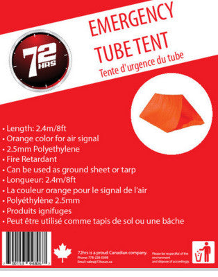 Emergency Tube Tent - EarthquakeKit.ca