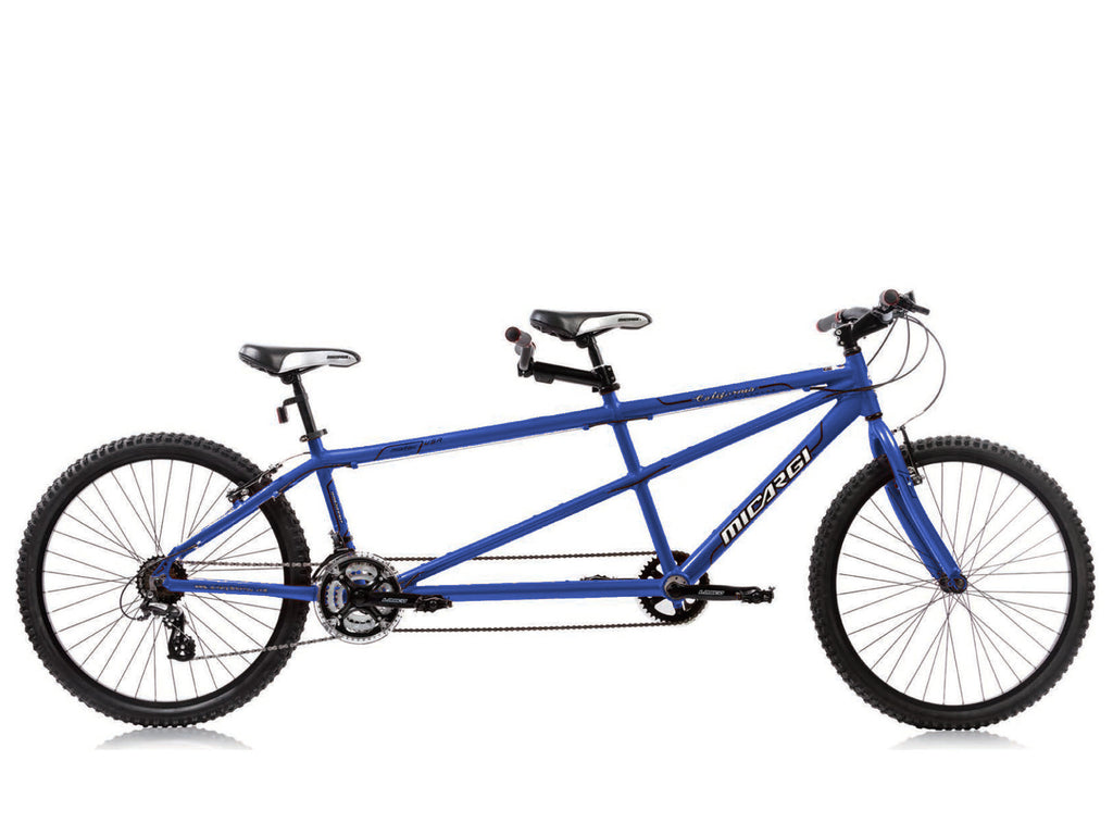 "Micargi California 26"" Tandem Beach Cruiser Shimano 24-Speed Bike(Dogder Blue) - kookabike - 1"