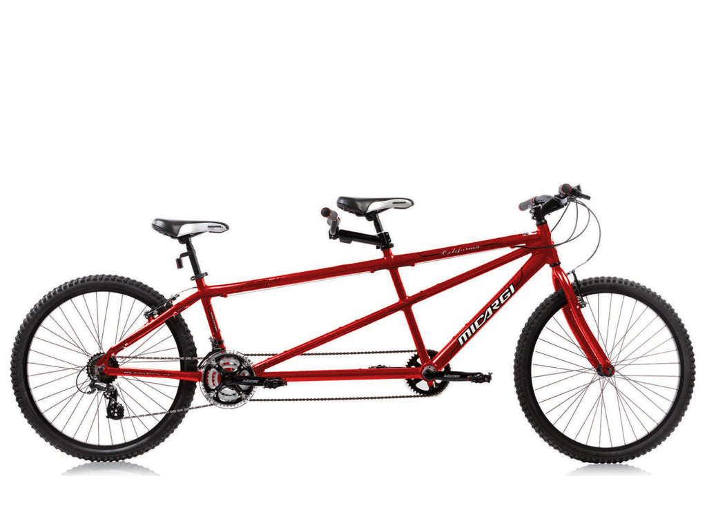 "Micargi California 26"" Tandem Beach Cruiser Shimano 24-Speed Bike(Red) - kookabike - 1"