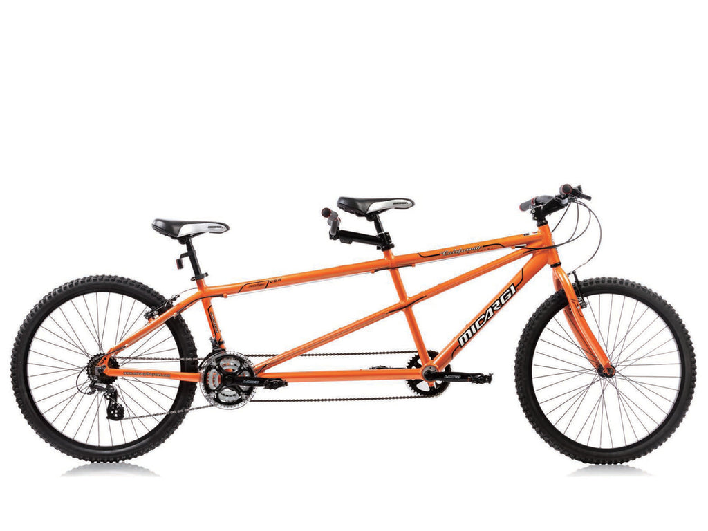 "Micargi California 26"" Tandem Beach Cruiser Shimano 24-Speed Bike(Saffron) - kookabike - 1"