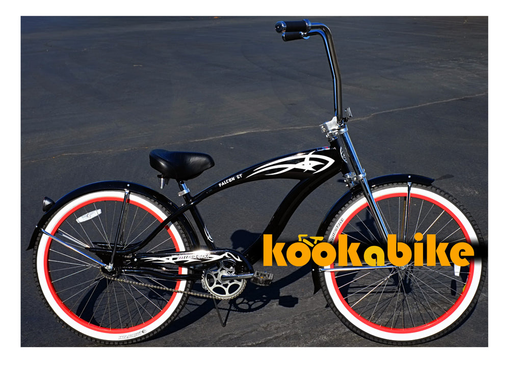 "Micargi Falcon GT Single-Speed 26"" Beach Cruiser (Black) - kookabike - 1"