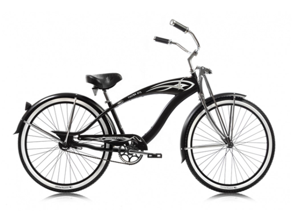 "Micargi Falcon GTS Single-Speed 26"" Beach Cruiser (Black) - kookabike - 1"
