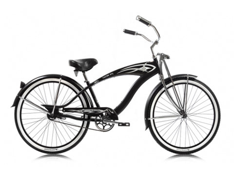 "Micargi Falcon GTS Single-Speed 26"" Beach Cruiser (Black)"