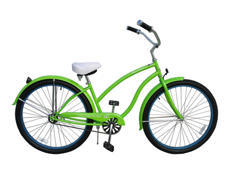 "Micargi Fatal Love 29"" Beach Cruiser Single-Speed Bike (Green)"