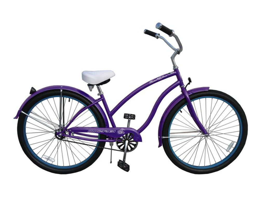 "Micargi Fatal Love 29"" Beach Cruiser Single-Speed Bike (Purple) - kookabike - 1"