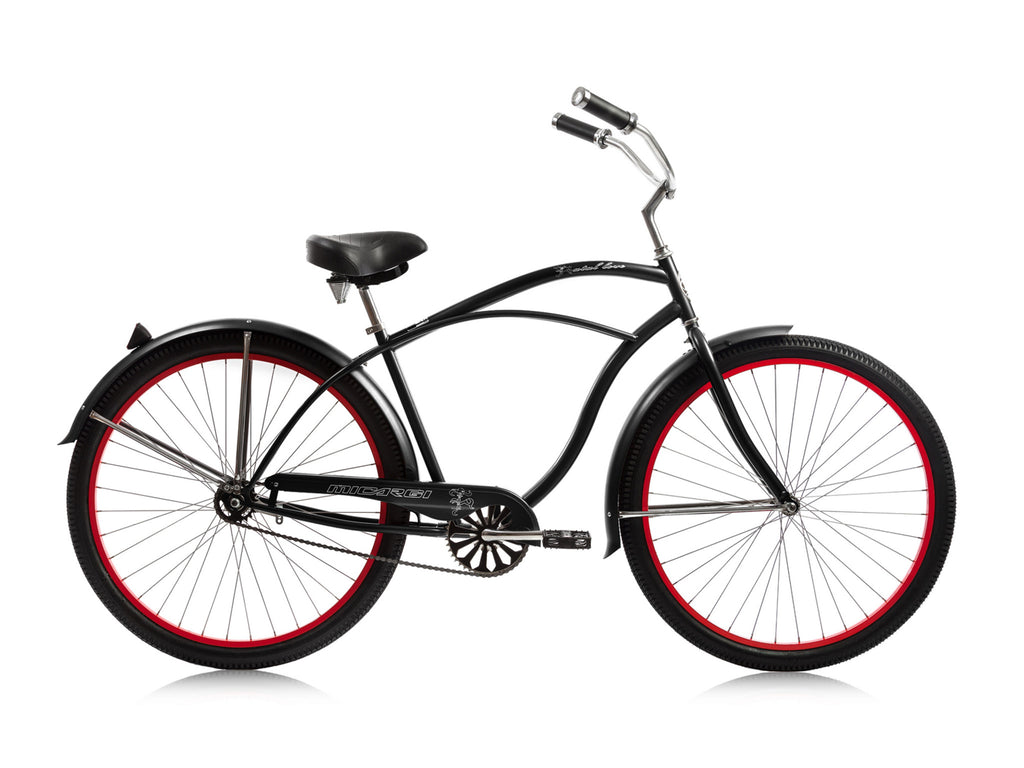"Micargi Fatal Love 29"" Beach Cruiser Single-Speed Bike (Black) - kookabike"