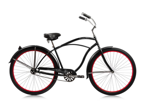"Micargi Fatal Love 29"" Beach Cruiser Single-Speed Bike (Black)"