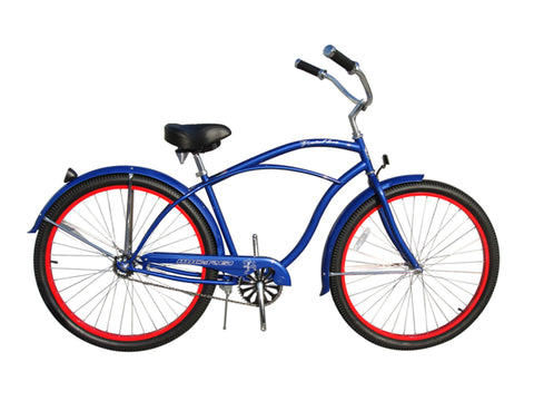 "Micargi Fatal Love 29"" Beach Cruiser Single-Speed Bike (Blue)"