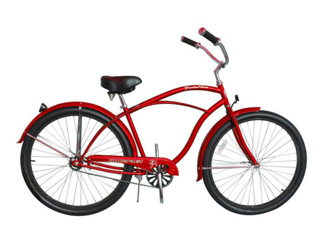 "Micargi Fatal Love 29"" Beach Cruiser Single-Speed Bike (Red)"