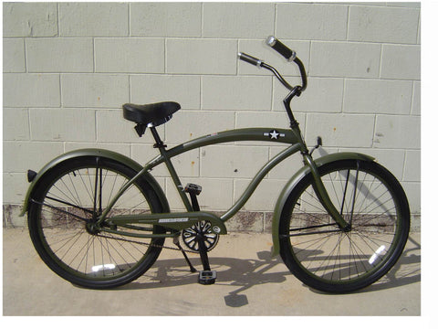 "Micargi General Single-Speed 26"" Beach Cruiser-Army Green (of course)"
