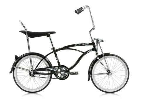 "Micargi Hero 20"" Lowrider Retro Kids' Bike (Black as Night)"